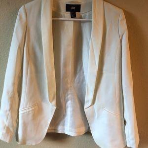 Silky white/cream H&M blazer